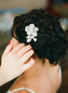 Hair Bling - this bride had lots of beautiful bling!