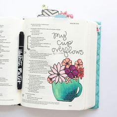 Bible Journaling by Stones & Sparrows @stonesandsparrows                                                                                                                                                                                 More