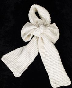 AprilMarin bow scarf with loop #Fall/Winter