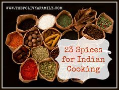 23 Spices for Indian Cooking {The Polivka Family}