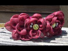 D.I.Y. Flores de organza cristal Passo a Passo- - fabric flowers- tutorial - YouTube