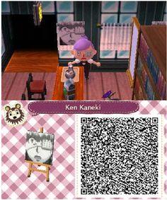 ACNL Animal crossing new leaf QR code by me. Portrait Ken Kaneki Tokyo Ghoul Eye patch Cafe
