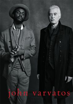 Jimmy Page & Gary Clark Jr. Campaign for John Varvatos. Photography by Danny Clinch