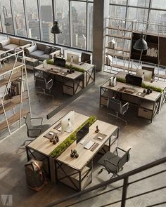 Corporate Office Design Executive is certainly important for your home. Whether you pick the Corporate Office Design Workspaces or Home Office Design Modern, you will create the best Corporate Office Interior Design for your own life. Bureau Open Space, Open Space Office, Loft Office, Office Space Design, Modern Office Design, Workspace Design, Office Workspace, Office Interior Design, Office Interiors