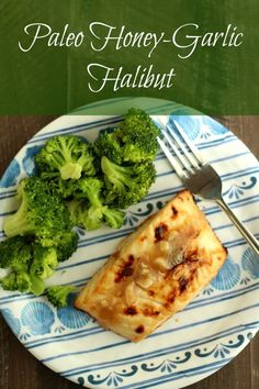 Paleo Honey-Garlic Halibut! Perfect quick weeknight dinner!