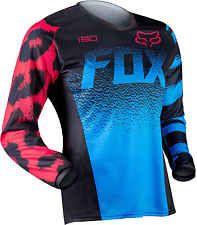 2015 Fox Racing Womens MX ATV Offroad Motocross 180 Jersey Black Blue