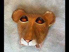 How to make a simba mask out of paper mach lion king masks simba cub headpiece the artfulness solutioingenieria Gallery