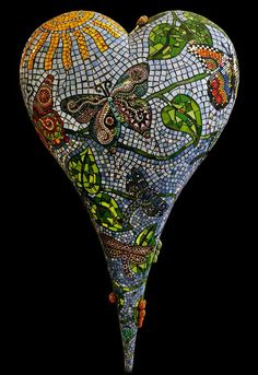 How incredibly beautiful. I am soooo inspired by this glorious mosaic heart.