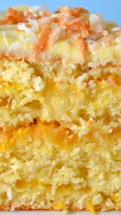 Mango Coconut Cake ~ Take a trip to the tropics with this simple cake recipe (mango cheesecake cups) Easy Cake Recipes, Sweet Recipes, Baking Recipes, Mango Recipes, Coconut Recipes, Coconut Cakes, Mango Dessert Recipes, Lemon Cakes, Mini Cakes