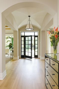 Captivating Architectural Elements Such As A Cross Barrel Vaulted Ceiling And Columns  Define The Foyer.