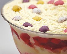 Ruby Moukli serves her own take on her Nan's fantastic Easter Trifle.
