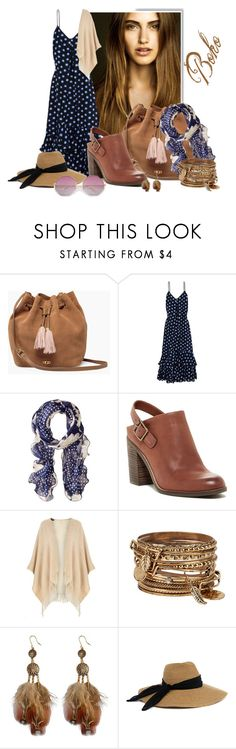 """""""Boho"""" by francakatia ❤ liked on Polyvore featuring UGG, Boutique Moschino, Lauren Ralph Lauren, Lucky Brand, Dorothy Perkins, ALDO and Eugenia Kim"""