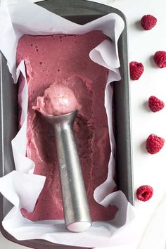 Raspberry banana ice cream