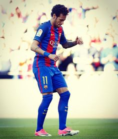 Naymar Neymar Jr, Fc Barcelona, Camp Nou, Uefa Champions League, Best Player, Football Soccer, Football Players, Red And Blue, Respect