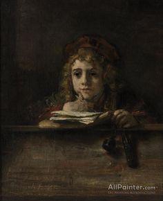 Rembrandt Van Rijn Portrait Of Titus Van Rijn (1641-1668) oil painting reproductions for sale