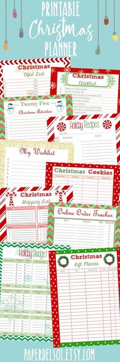 Printable Christmas planners to help me keep myself organized this holiday season! Christmas Checklist, Christmas Planning, Christmas On A Budget, Christmas Cards, Christmas Ideas, Christmas Holiday, Christmas Decor, Christmas Inspiration, Christmas Stuff