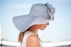 Straw hat with a wide turned up brim adorned with a bow Ondine, Ss 2017, Walking By, Summer Hats, Elegant, Bow, Collection, Fashion, Fedora Hat