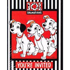 102 DALMATIANS INVITATIONS ~ Birthday Party Supplies Stationery Disney Cards 8
