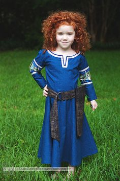 My Little Merida - A wonderful Brave costume from EraOfMakeBelieve on Etsy. Ella is in love!