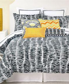 Trina Turk Bedding, Zebra Stripe Comforter and Duvet Cover Sets - Trina Turk - Bed & Bath - Macy's