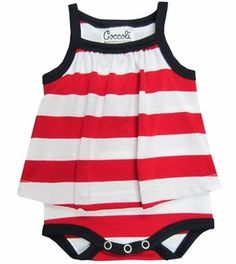 Coccoli Stripe Cotton Baby Doll Onesie