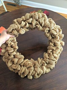 This rustic fall burlap bubble wreath is simple, beautiful, easy to make, and involves just a few materials. Check out this post for the easy step-by-step tutorial! This rustic fall burlap bubble wreath is simple, beautiful, easy to make, and involves just a few materials. Check out this post for the easy step-by-step tutorial!