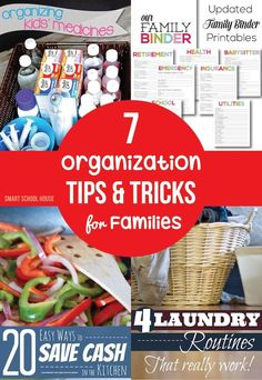 7 Organization Tips and Tricks for Families