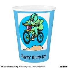 BMX Birthday Party Paper Cups Paper Cup