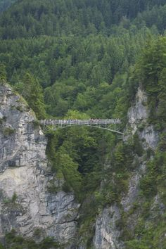 ***Jugend Lookout Point, a suspended bridge across from Neuschwanstein Castle in Germany