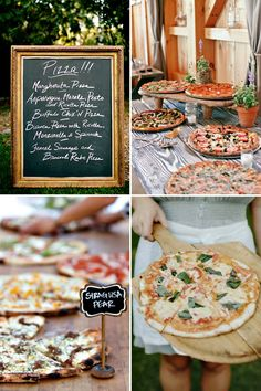 Build your own pizza bar station