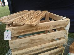 Wooden box with lid made of up cycled pallet wood. by GoodsForHome, £45.00
