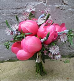 Peonies, veronica, astrantia and jasmine by Apple Blossom #peonies