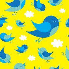 Seamless Twitter Birds Background