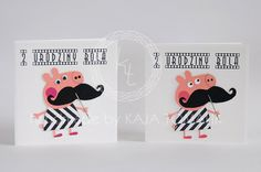peppa pig card, handmade invitations for second birthday party