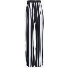 Balmain Two tone printed viscose high-waisted flared pants (9.550 DKK) ❤ liked on Polyvore featuring pants, bottoms, trousers, balmain, calças, flare trousers, high waisted trousers, rayon pants, high waisted flared trousers and viscose pants