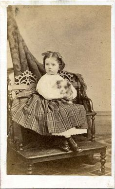 c. 1860s - little girl with her dog