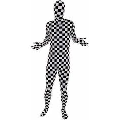 Check Morphsuit Men's Adult Halloween Costume, Size: Medium
