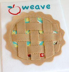 Food Quiet Activity Book - Weave the Pie Crust