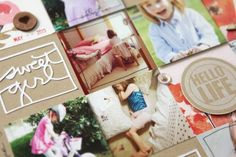 Hello Age Four | Traditional Scrapbook Layout For Scrapbook Soup & Free Download