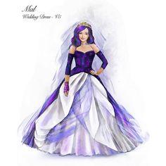 Dove Cameron Descendants, Descendants Wicked World, Disney Descendants Movie, Descendants Characters, Disney Up, Disney Fan Art, Wedding Dress Sketches, Wedding Dresses, Butterfly Black And White