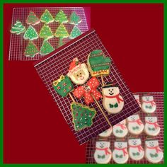 Chrismas Cookies with royal icing, by Delicias D'Fabis
