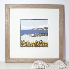 Handmade Lino Print Gorse At Borthwen £90.00