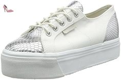 Superga 2790 Cotleasnakew, Sneakers Basses Mixte adulte - White (white Silver), 42 EU - Chaussures superga (*Partner-Link)