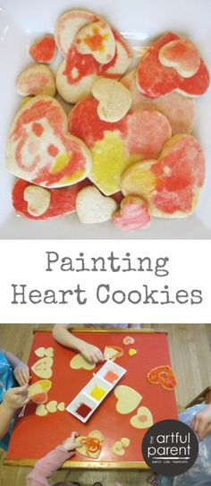 Painting heart cooki
