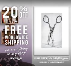 ✂️ FREE SHIPPING + 20% OFF Everything in my Society6 shop thru Sunday, April 9th ✂️ Available only thru PROMO LINK➤ https://society6.com/edrawings38?promo=2PJ64PNYMVY2 ✂️  #art #wallart #walldecor #home #illustration #drawing #artprint #creative #surreal #dance #ballerina #scissors #buyart #promo #sale #freeshipping #society6 #edrawings38