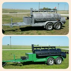 Extreme Makeover of this 2007 Model Horizon Trailer Smoker! Let us Refurbish your Smoker! www.horizonbbqsmokers.com