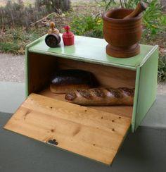 Vintage Wooden Bread Box Primitive Cottage Cabin by redshedvintage, $36.00