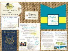 Passport Wedding. Passport Wedding Invitation, Destination Invite, Beach Wedding Invite.
