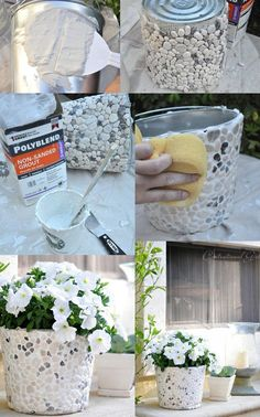 Diy planters - Options for DIY Garden Globes garden gardendesig gardenideas gardening If you like to spend time in your garden, then you should Diy Home Crafts, Garden Crafts, Diy Garden Decor, Garden Projects, Arts And Crafts, Garden Art, Glow Garden, Garden Ideas, Diy Concrete Planters