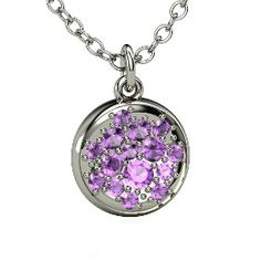 NaEun (@nananapark)  http://summerinsea.com  Naked Pave Petite Pendant, White Gold Necklace with Amethyst from Gemvara